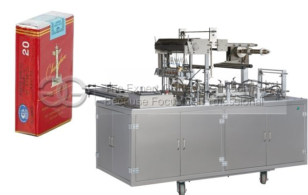 Cigarette box packing machine