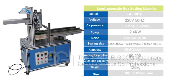 Hot Glue Ppaer Box Sealing Machine