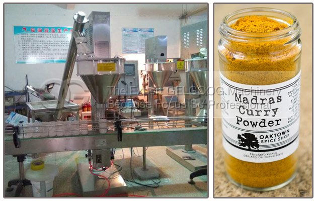Semi Automatic Curry Powder Packing Machine to America